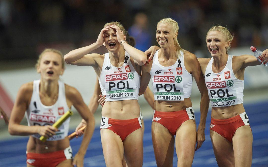 atlétika EB női 4 x 400 m váltó (végső győztes: Lengyelország) 2,75