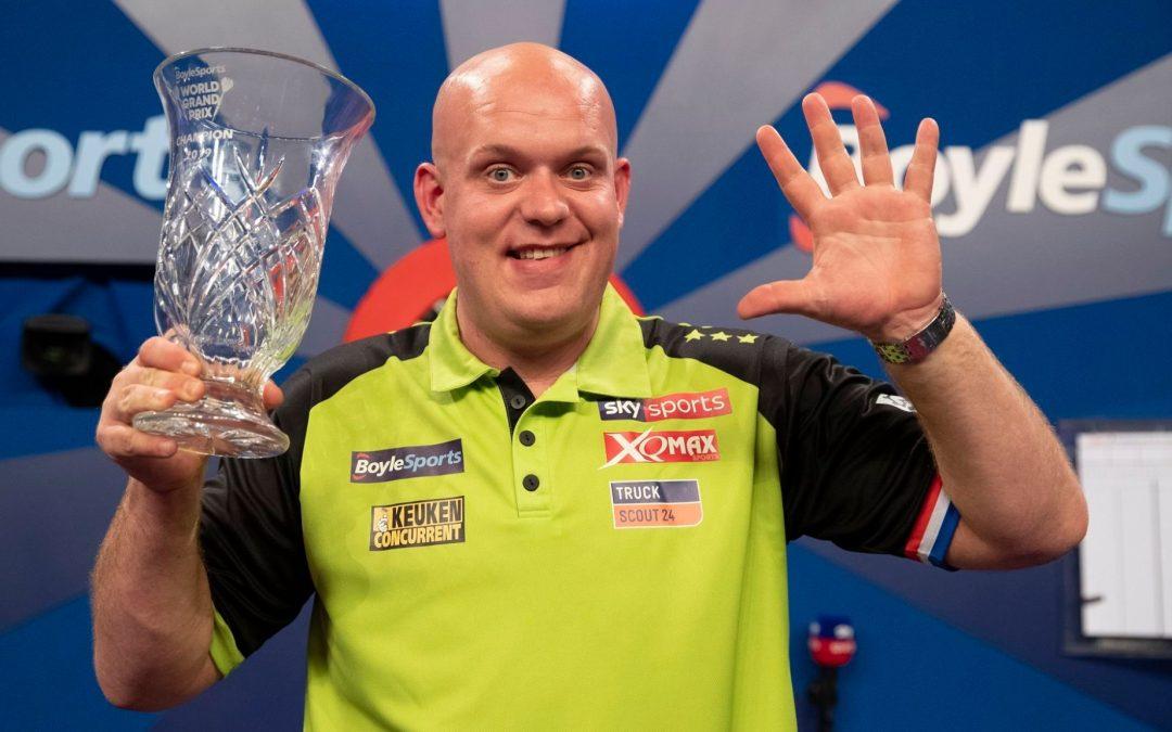 darts Bajnokok Ligája végső győztes (M. van Gerwen) 1,72