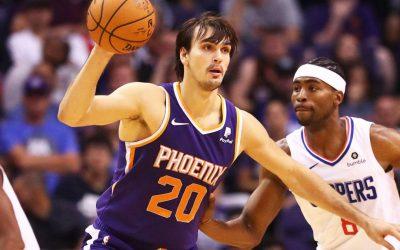 Charlotte Hornets – Phoenix Suns (D. Saric pontjai, lepattanói és gólpasszai: 21,5 felett) 2,10